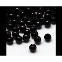 200 Perlen 5,5 mm schwarz Acryl Bild 1