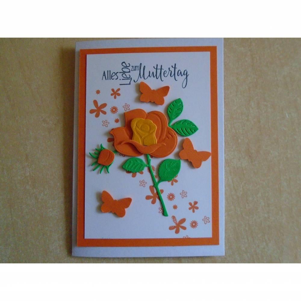 Glückwunschkarte zum Muttertag ,Muttertagskarte ,Mama Rosen,Rosenkarte,Muttertag,Liebe Mama,Grusskarte,3D Karte, Bild 1