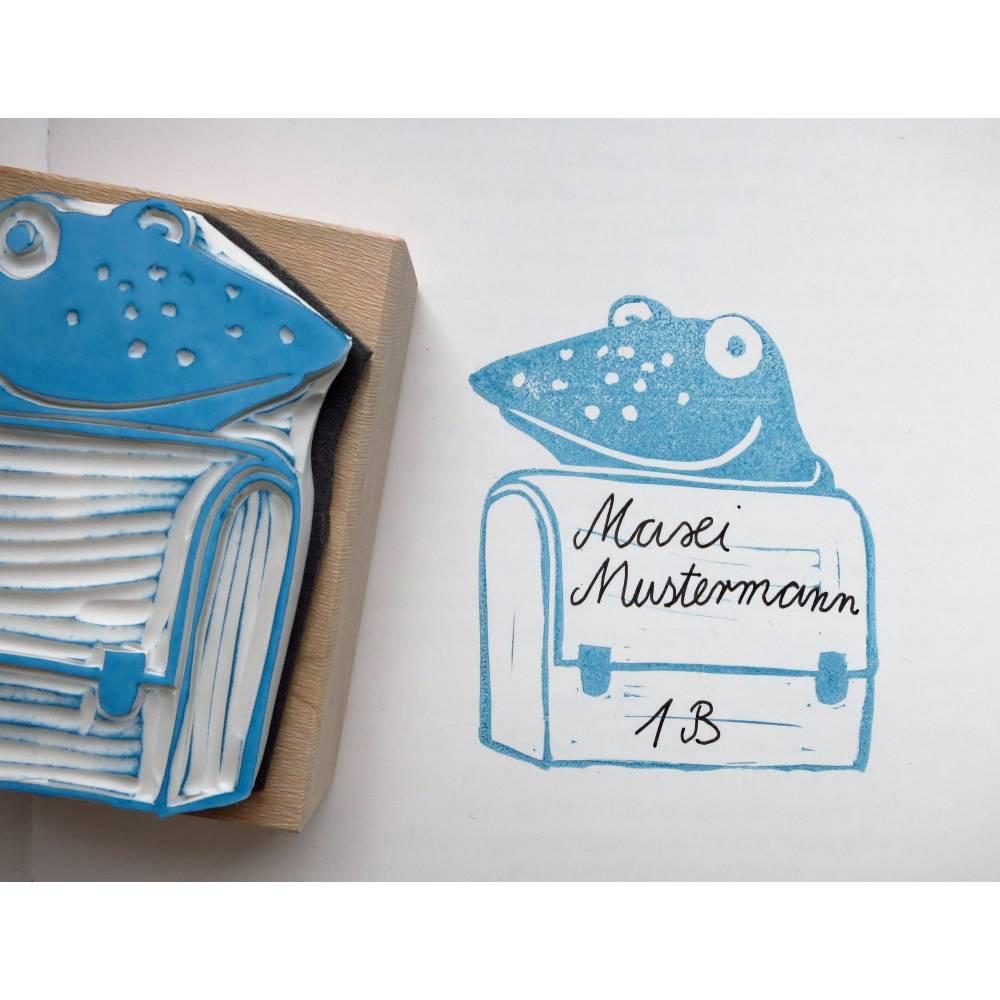Buchstempel mit Namen Schule Schulbuch Mädchen Namensstempel individuell
