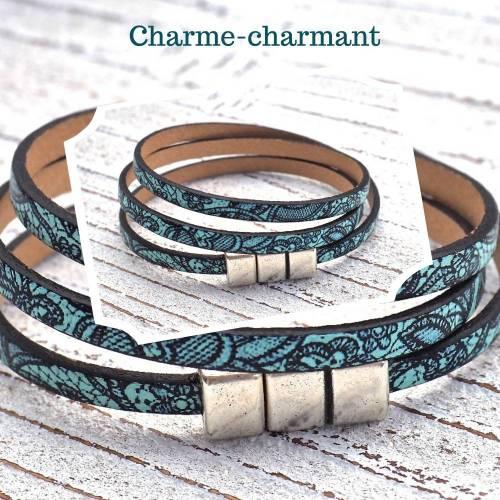 Lederarmband Meer Boho,Frauenarmband,Wickelarmband,Armband bunt,handgefertigt,maritim,Frauen,Magnet