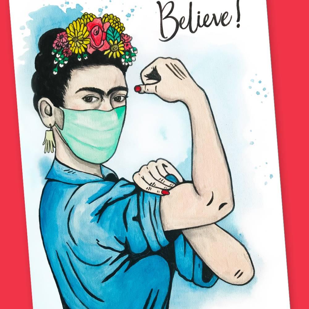 Postkarte - Believe! Bild 1
