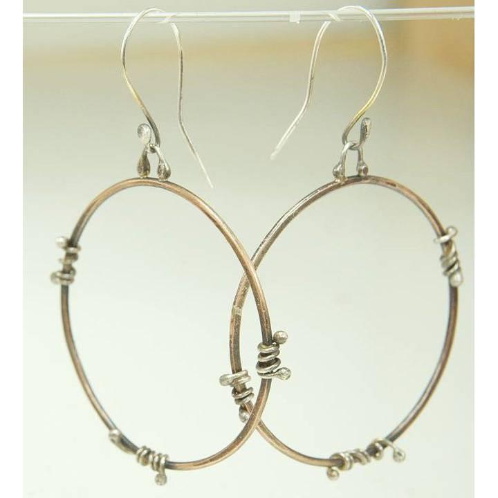 Bronze Hoops Ohrringe Bild 1