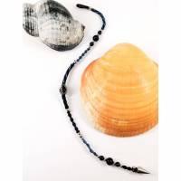 Makramee Hair Wrap mit Lapislazuli, Sodalith und Edelstahl Bild 1