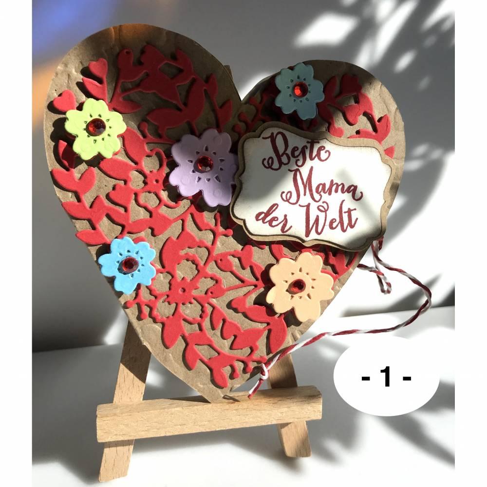 """""""Blühendes Herz"""" – Teegeschenkkarte zum Muttertag: Bloomin' Heart - Auswahl 2 Bild 1"""