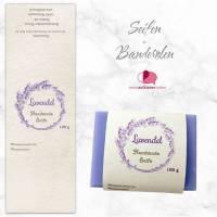 8 Seifenbanderolen: Lavendel Kranz - personalisierbar | mit transparente Klebepunkte Bild 1