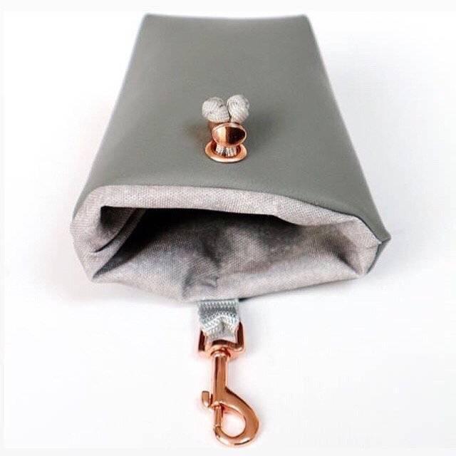 Leckerlibeutel Grey Deluxe in Grau Roségold Bild 1