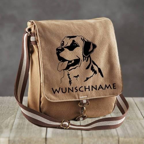 Canvas Messenger Labrador mit Wunschname