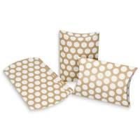 Kissenschachtel in Kraftpapier-Optik Gastgeschenk Verpackung Geldgeschenk Kissentaschen Bild 1