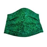 """Mund-Nasen-Maske """"Wirbel""""~grün 100 % Baumwoll-Stoff"""