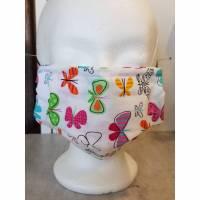 Behelfsmaske, Textilmaske, Mund-Nase-Maske, mit Nasendraht, 100% Baumwolle, waschbar bis 60°C Bild 1