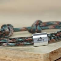 Personalisiertes Herren Fahrrad Armband aus Segeltau handgestempelt | Velo | Radfahren Bild 1