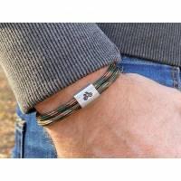 Personalisiertes Herren Fahrrad Armband aus Segeltau handgestempelt | Velo | Radfahren Bild 2