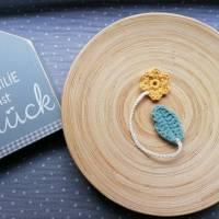 Weiches Nabelschnurbändchen, gehäkeltes Nabelschnurband mit Blume Bild 1