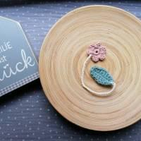 Weiches Nabelschnurbändchen, gehäkeltes Nabelschnurband mit Blume Bild 3