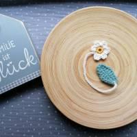 Weiches Nabelschnurbändchen, gehäkeltes Nabelschnurband mit Blume Bild 4