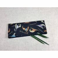 Nadelgarage mit Magierhüten und Zauberstäben für das Sockenstrickzeug, Maschenretter für Nadelspiele Bild 1