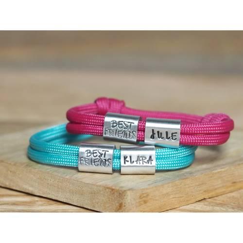 Beste Freunde Armband Set handgestempelt personalisiert