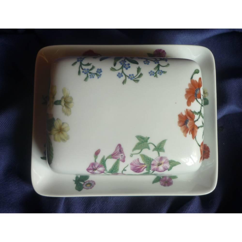 Butterdose Frühlingsblumen,Wicken,Primeln,Vergissmeinicht,Klatschmohn Bild 1