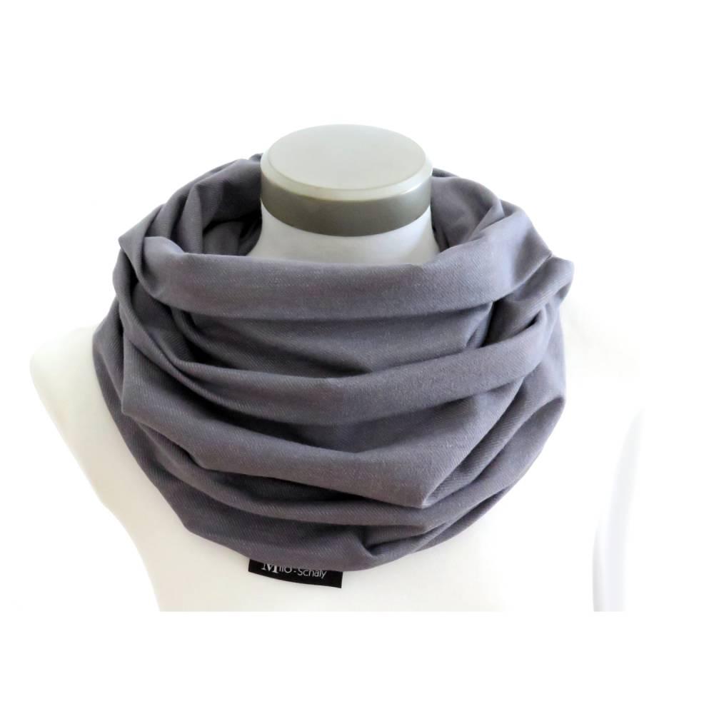Loop Männer Schal Jersey dunkelgrau meliert Baumwolle unisex Bild 1