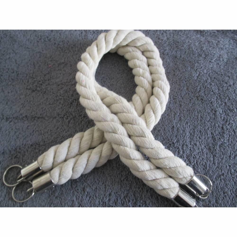 Taschenhenkel  Kordelgriffe für Taschen Länge 70 cm rohweiß Baumwolle (1Set/ 9,00€) Bild 1