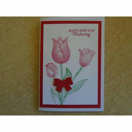 Muttertag ,Glückwunsch zum Muttertag,Muttertagskarte ,Mama Tulpen,Tulpenkarte,Muttertag,Liebe Mama,Grusskarte,3D Karte,Blumem,