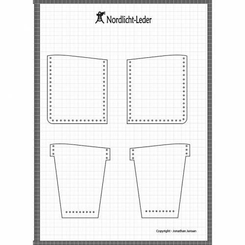 Digitales Schnittmuster für eine einfache Geldbörse aus Leder