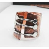 Brücken Bandring aus Kupfer und Sterlingsilber Bild 1