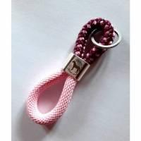 Schlüsselanhänger Pferdemädchen rosa/bordeaux - in Geschenkverpackung Bild 1