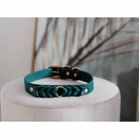 Halsband für Hunde aus BioThane® geflochten Dunkelgrün Bild 1