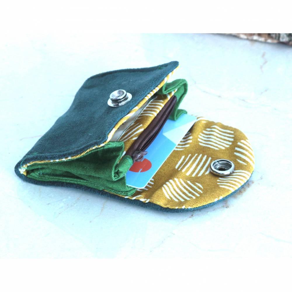 Geldbörse Conga, wirklich praktisch! grün weiches Kunstleder Bild 1