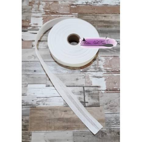Schrägband Baumwolle 2 cm weiß Bild 1