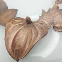 Elfengarten Kette aus Kupfer , Silberglas und Sterlingsilber Bild 1