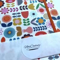 """Notizbuch Tagebuch """"Sweet Retro Flowers"""" A5 Hardcover stoffbezogen Stoff Blumen Retro Retrofan Geschenk Geschenkidee Geschenkartikel Fanartikel Bild 6"""