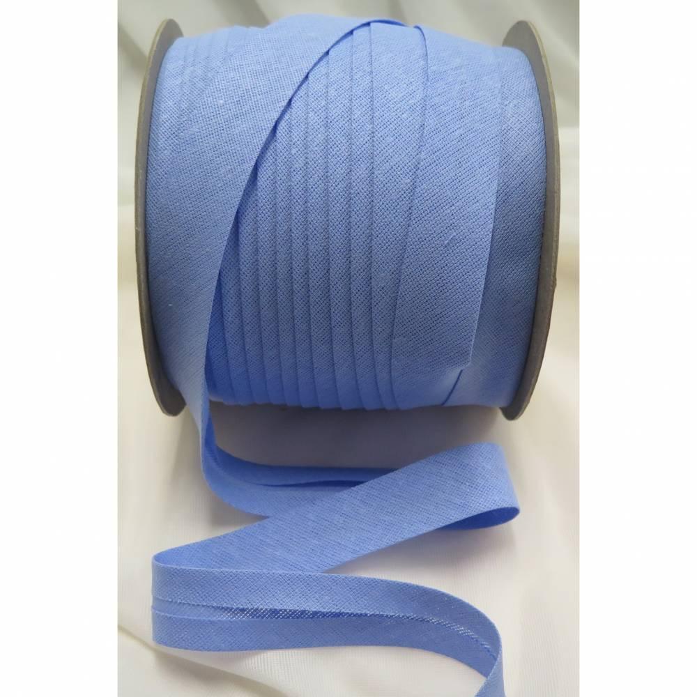 Baumwoll-Schrägband 40/20, gefalzt, hellblau Bild 1