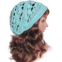 Damen Beanie Mütze *Nixe* Gr. 55/56 cm Kopfumfang gehäkelte Handarbeit  Bild 1