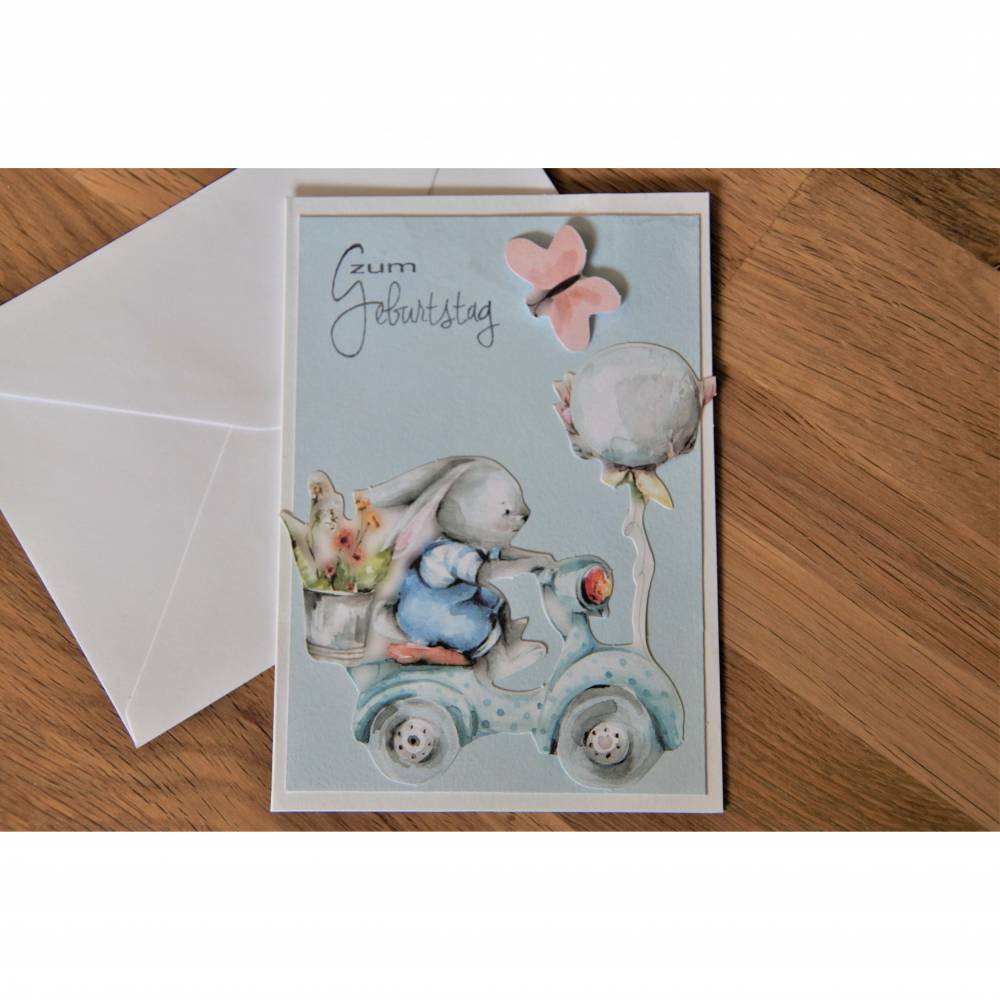 1 Glückwunschkarte zum Geburtstag Karte Geburtstagskarte Bild 1