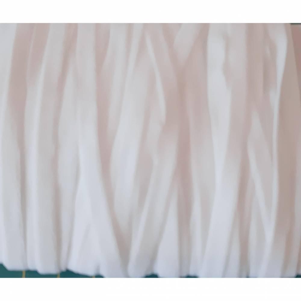 Gummiband Gummilitze flach weiß 5 mm 1 m Masken-Gummiband Bild 1