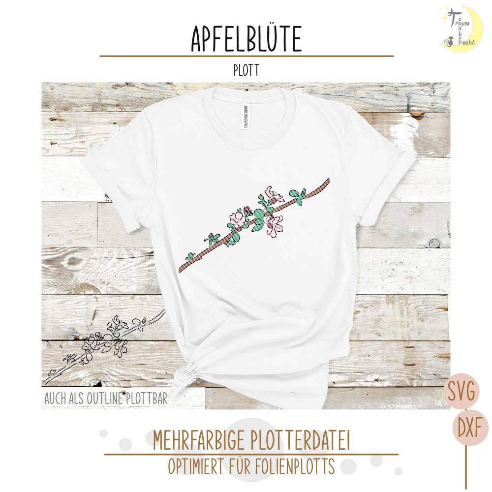 Apfelblüte Plottervorlage  Bild 1