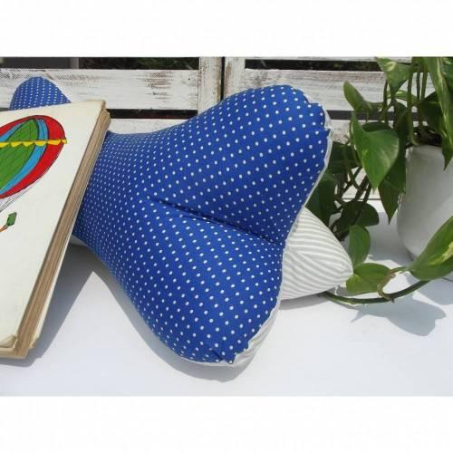 Extra großer Leseknochen ca.43x18cm, extra fest gefüllt, Nackenkissen/Reisekissen * Punkte *