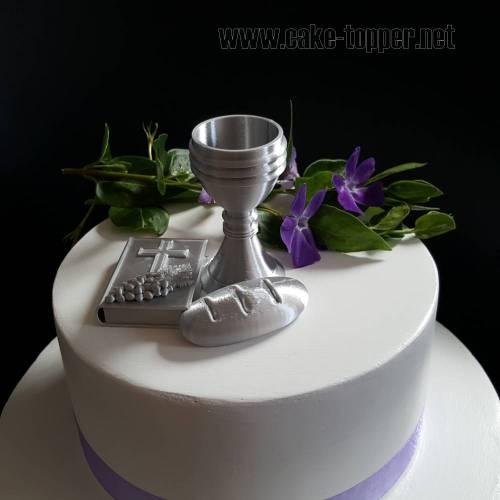 3D Kelch/Bilbel/Brot Tortenfigur