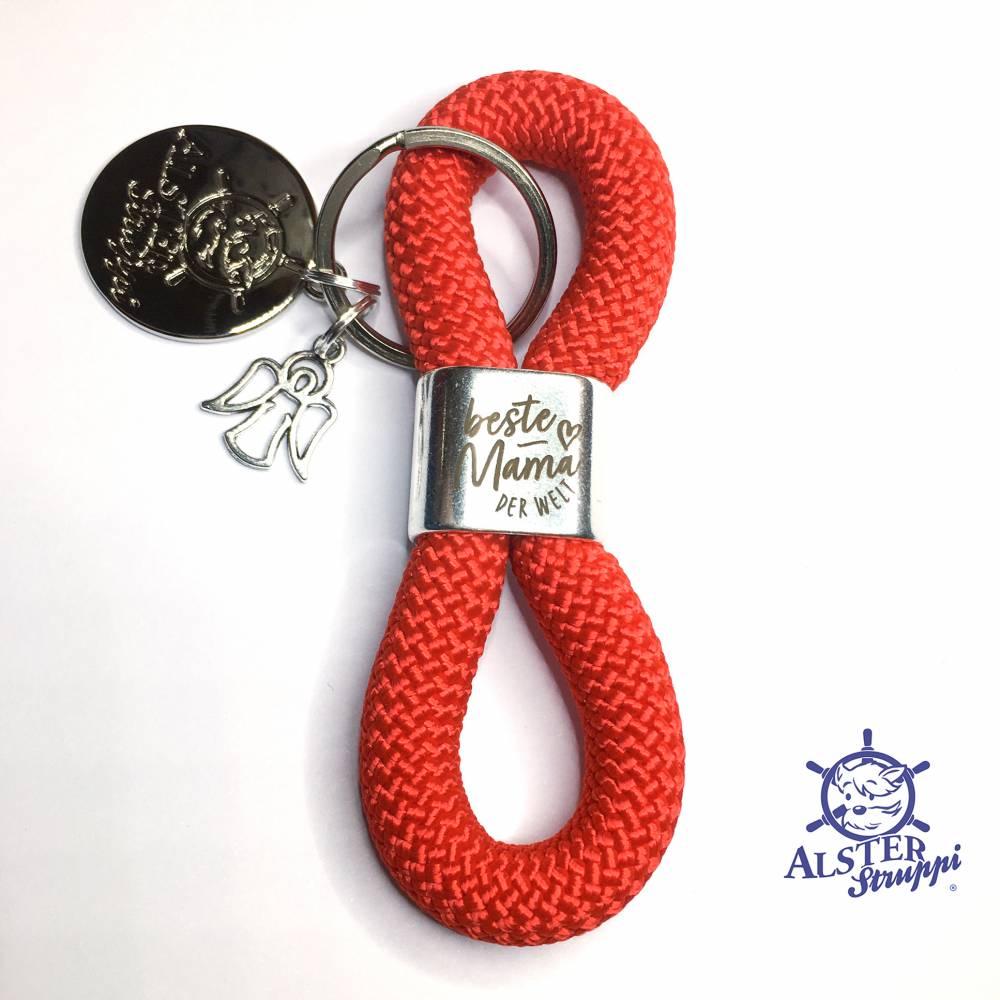 Schlüsselanhänger Geschenk zum Muttertag versilberter Slider - personalisiert Bild 1