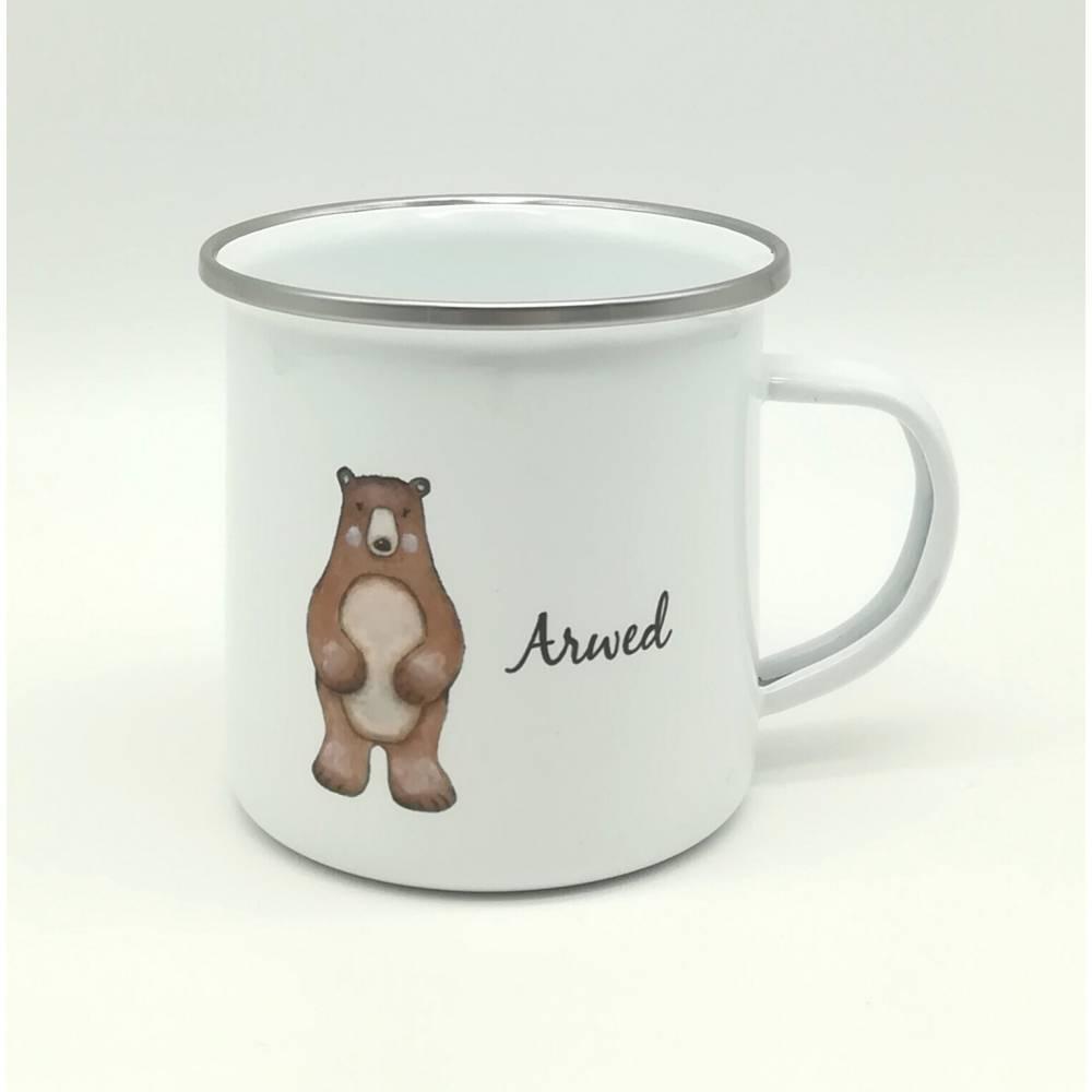 "Tasse mit Namen personalisiert Motiv ""Bär""  Bild 1"