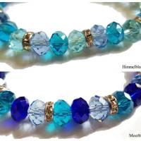 Armband aus Glasschliffperlen und Strassrondellen, Farbwahl Bild 1