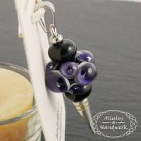 Anhänger Augenperle lila als Wechselanhänger ● Handgewickelte Glasperlen ● Lampwork Bild 1