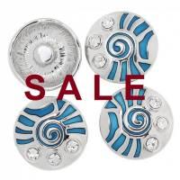 SALE! Druckknopf,  Button, Druckknopfbutton,Gr. L, Metall mit Emaille und Strass, statt 4,99 Euro jetzt 1,99 Euro Bild 1