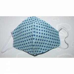 Mund,- und Nasenmaske Behelfsmasken Blau/Weiß 100% Baumwolle
