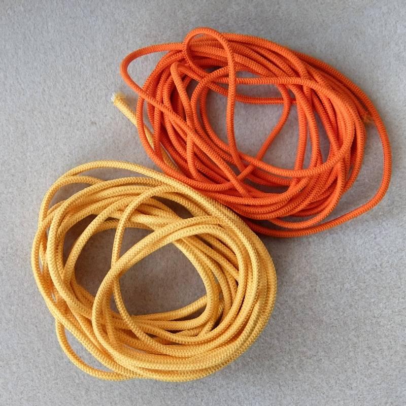 1,10€//m-Gummiband Rüschengummi,Gummilitze Wäschegummi in Lachs orange 3mx15mm