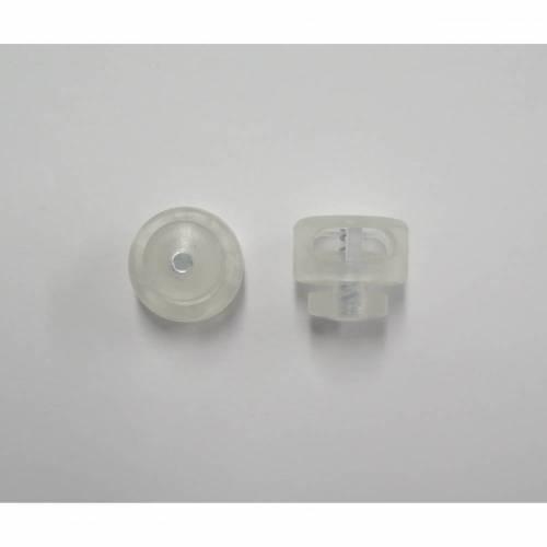 Kordelstopper - transparent - rund - 4 mm
