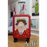 """Koffer ( Trolley) Rot     """"n Scheiß muss ich"""" Bild 1"""