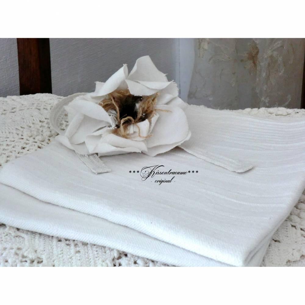 Vintage Leinen, 2 Stück als Set, Shabby Handtuch, Geschirrtuch in neuwertigem Zustand, aus reinem Leinen.  Bild 1